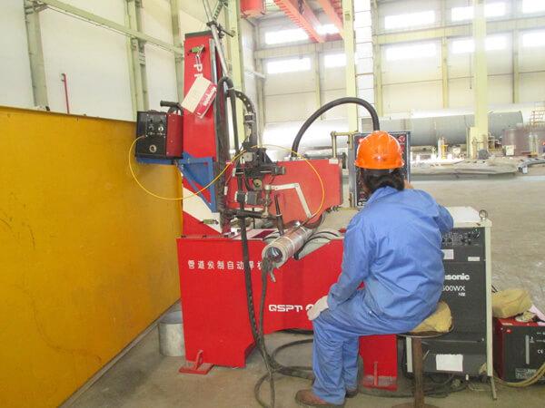 Máquina de soldadura automática para prefabricado de tubos