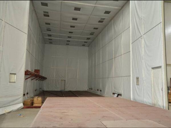 Sala de limpieza por chorro de circulación